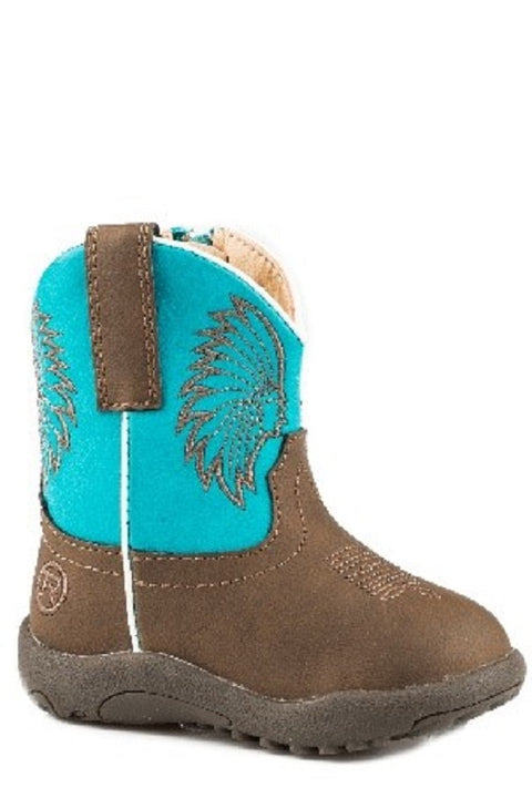 Roper Cowbaby Big Chief Brown / Turquoise