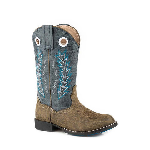 Roper Kids Boots Hole in the Wall Brown/Blue