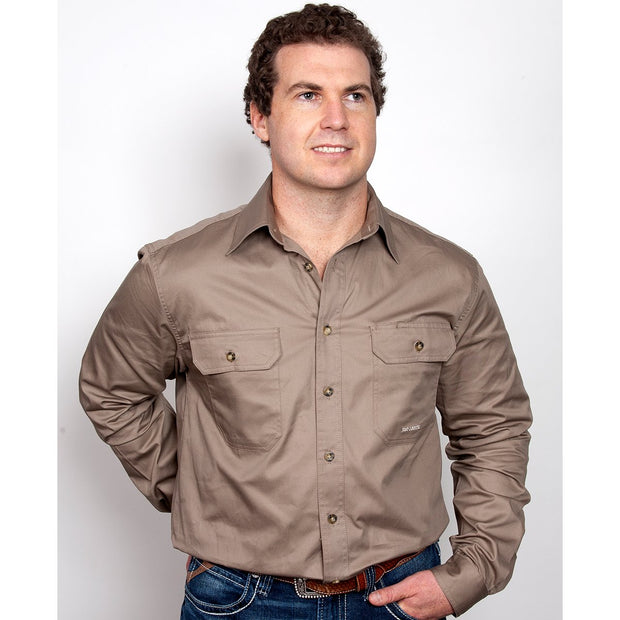 Just Country Workshirt Men's Evan Brown 20202BWN