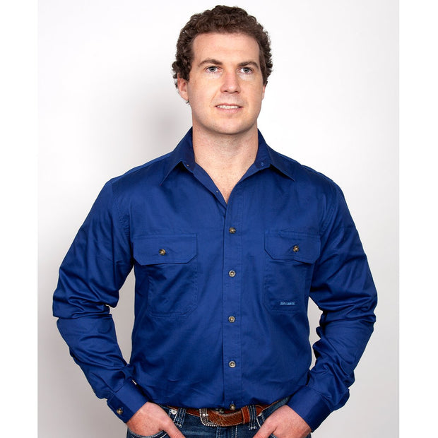 Just Country Workshirt Men's Evan Cobalt 20202CBT