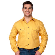 Just Country Men's - Evan - Full Button Mustard 20202MUS