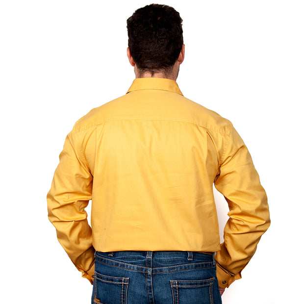 Just Country Men's - Evan - Full Button Mustard 20202MUS back