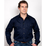 Just Country Workshirt Men's Evan Navy 20202NVY