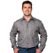 Just Country Men's - Evan - Full Button Steel Grey 20202STG
