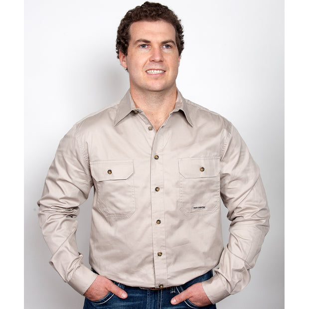 Just Country Workshirt Men's Evan Stone 20202STN