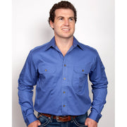 Just Country Workshirt Men's Evan Blue 20202BLU