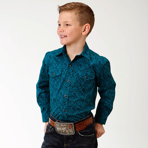 Roper Boys - Amarillo Collection Shirt Blue Spruce 30225155