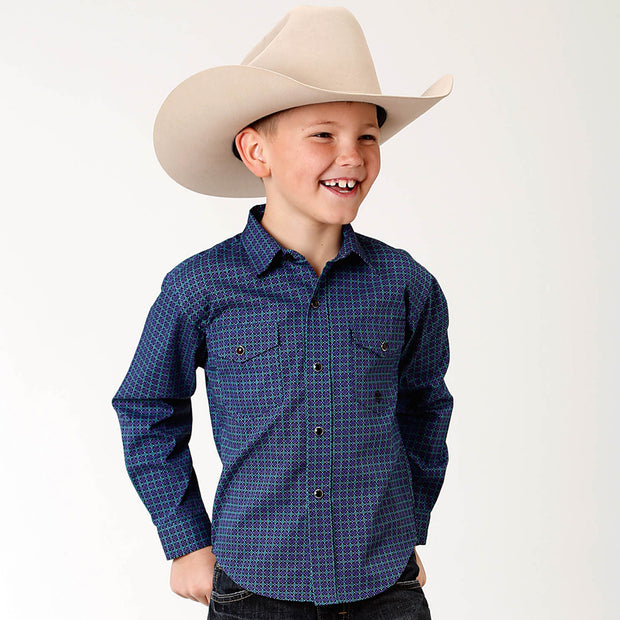 Roper Boys - Amarillo Collection Shirt Blue Spruce 30225157