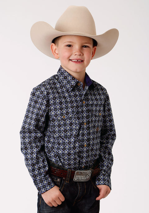 Roper Boy's - Amarillio Collection Shirt Winter Plum / Purple 30225194