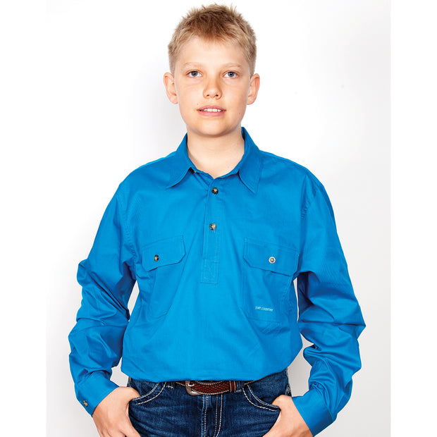 Just Country Boys - Lachlan - 1/2 Button - Blue Jewel 30303BJL