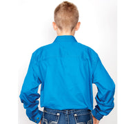 Just Country Boys - Lachlan - 1/2 Button - Blue Jewel 30303BJL back