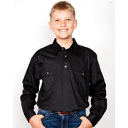 Just Country Workshirt Boy's Lachlan Black 30303BLK