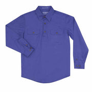 Just Country Workshirt Boy's Lachlan Blue
