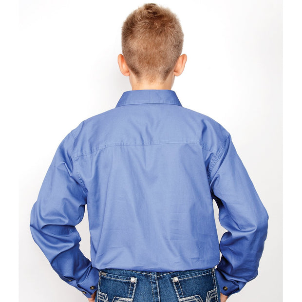 Just Country Workshirt Boy's Lachlan Blue 30303BLU back