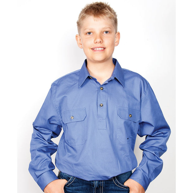 Just Country Workshirt Boy's Lachlan Blue 30303BLU
