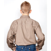 Just Country Workshirt Boy's Lachlan Brown 30303BWN back
