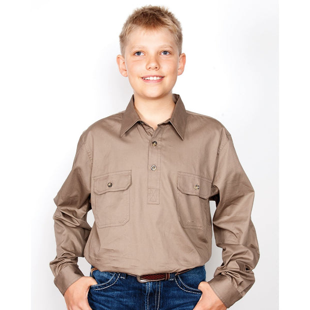 Just Country Workshirt Boy's Lachlan Brown 30303BWN