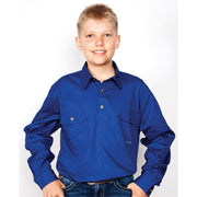 Just Country Workshirt Boy's Lachlan Cobalt 30303CBT