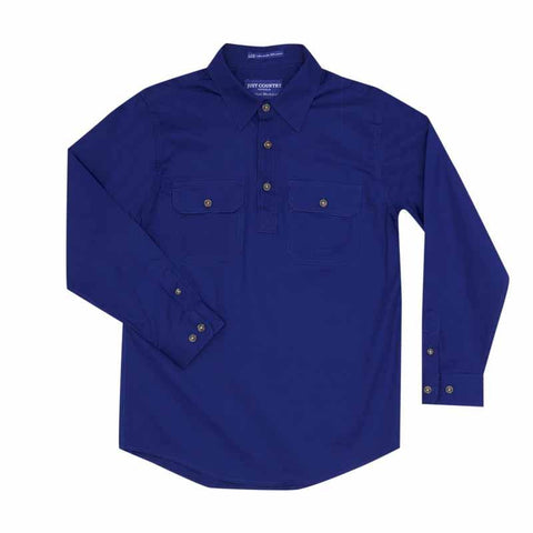 Just Country Workshirt Boy's Lachlan Cobalt