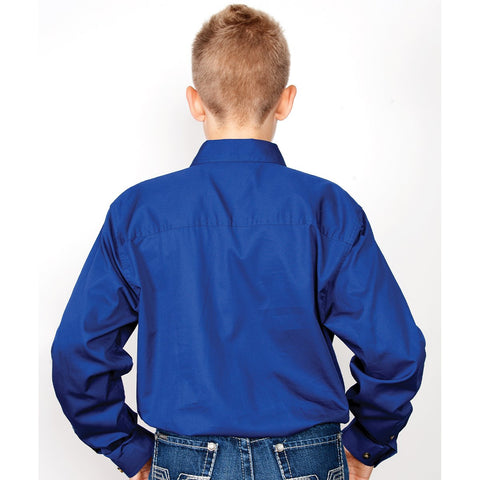 Just Country Workshirt Boy's Lachlan Cobalt 30303CBT back