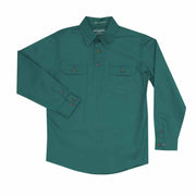 Just Country Workshirt Boy's Lachlan Dark Green