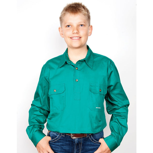 Just Country Workshirt Boy's Lachlan Dark Green 30303DKG