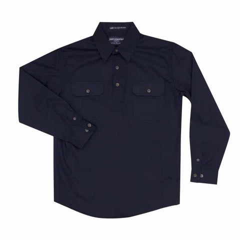 Just Country Workshirt Boy's Lachlan Navy