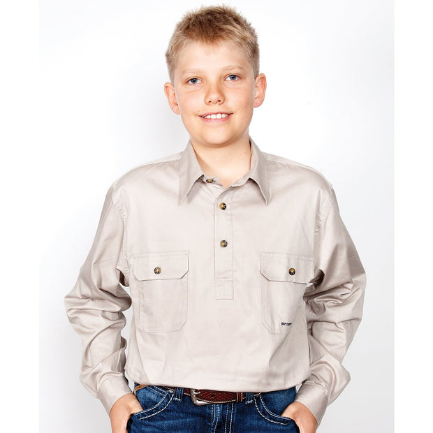 Just Country Workshirt Boy's Lachlan Stone 30303STN