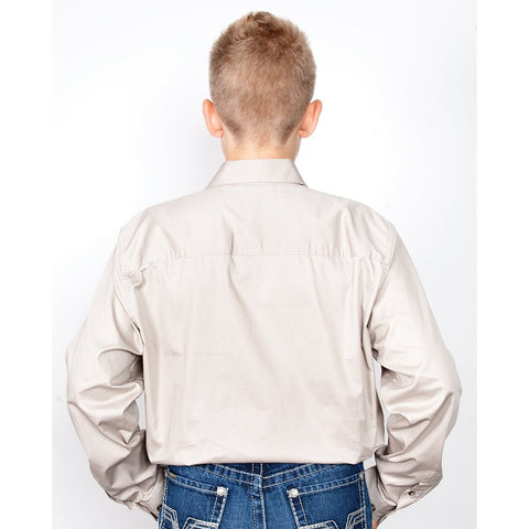 Just Country Workshirt Boy's Lachlan Stone 30303STN back