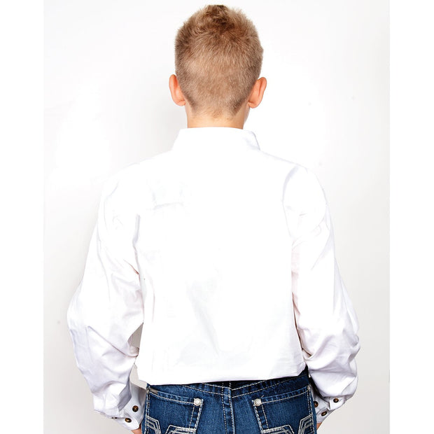 Just Country Workshirt Boy's Lachlan White 30303WHT back