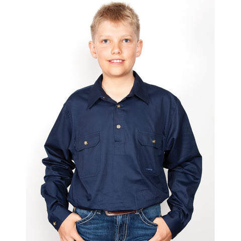 Just Country Workshirt Boy's Lachlan Navy 30303NVY