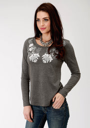 Roper Women's - Five Star Collection Tee Grey 03-038-0513-7074 GY