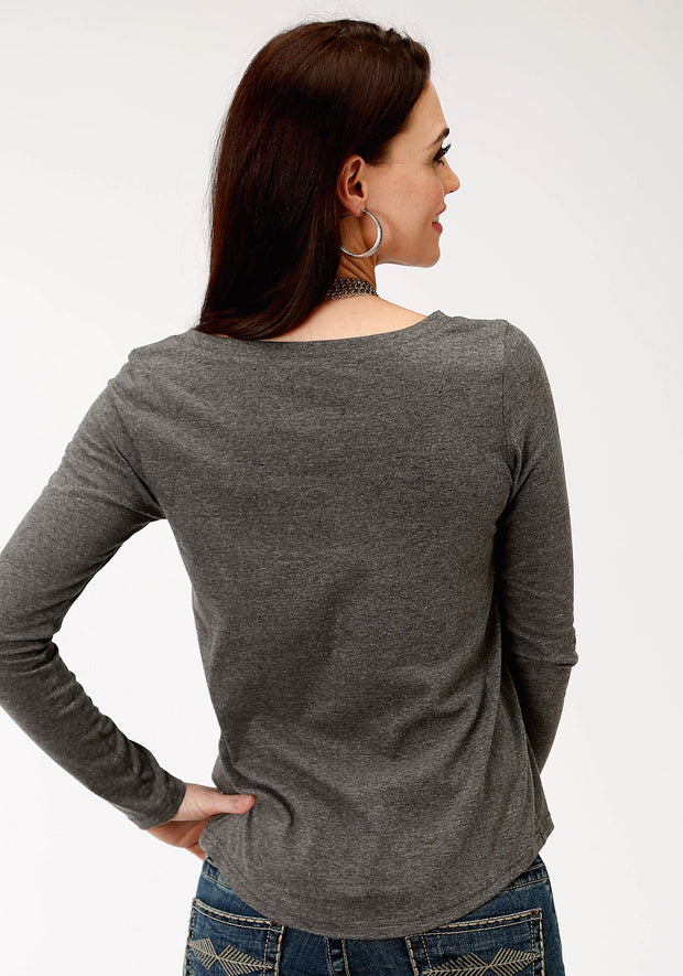 Roper Women's - Five Star Collection Tee Grey 03-038-0513-7074 GY back