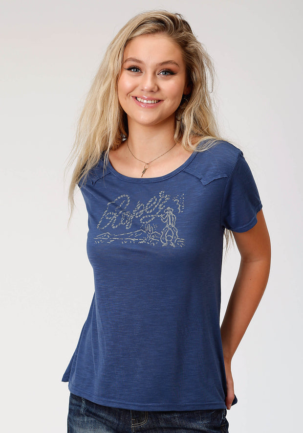 Roper Women's - Five Star Collection Tee Blue 03-039-5013-4013 BU