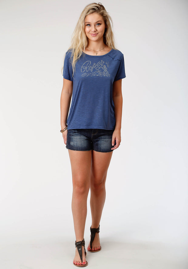 Roper Women's - Five Star Collection Tee Blue 03-039-5013-4013 BU full