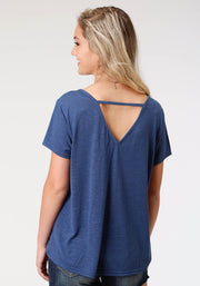 Roper Women's - Five Star Collection Tee Blue 03-039-5013-4013 BU back
