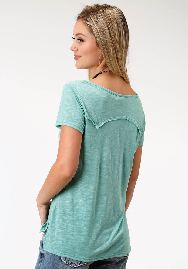 Roper Women's - Five Star Collection Tee Aqua 03-039-0513-74031 GR back