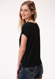 Roper Women's - Five Star Collection Tee Black 03-039-0513-2074 BL back