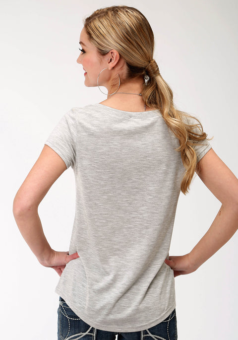 Roper Women's - Five Star Collection Tee Grey 03-039-5013-6080 GY back