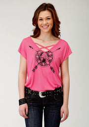 Women's - Five Star Collection Tee Pink 30-039-0513-0183 PI