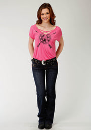 Women's - Five Star Collection Tee Pink 30-039-0513-0183 PI Full