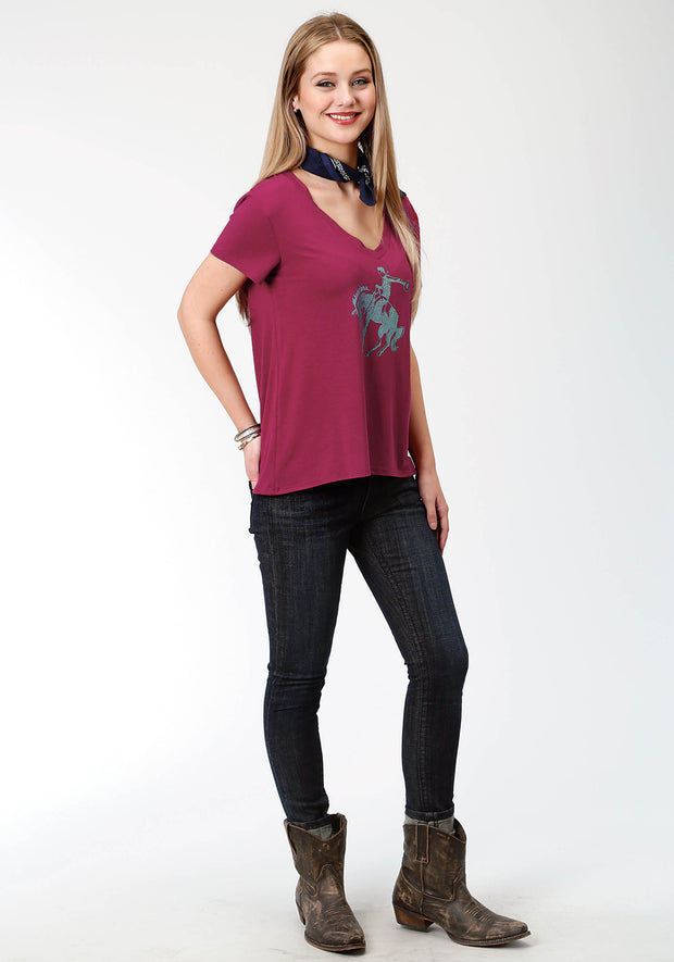 Roper Women's - Five Star Collection Tee Plum 03-039-0514-0149 RE full
