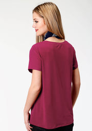 Roper Women's - Five Star Collection Tee Plum 03-039-0514-0149 RE back