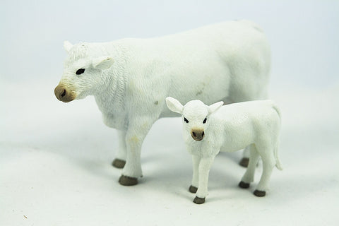 Big Country Toys Charolais Cow & Calf 423