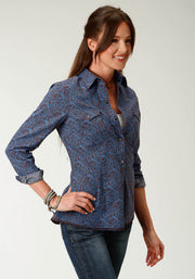 Roper Women's - West Made Collection Shirt Brown