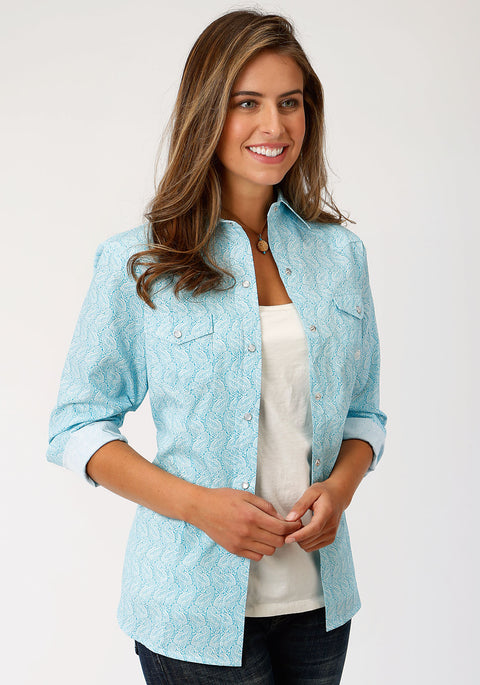 Roper Women's - Amarillio Collection Shirt Blue 03-050-0225-0368 BU