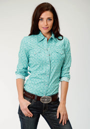 Roper Women's - Amarillio Collection Shirt 03-050-0225-0366 BU full