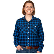 Just Country Women's - Brooke Flannel - Full Button Blue / Black 50502213