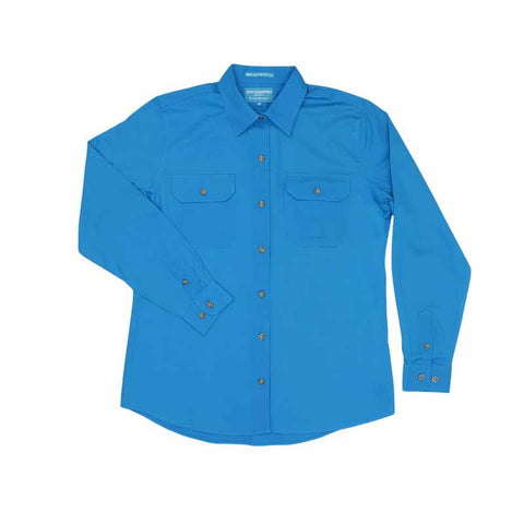 Just Country Workshirt Women's Brooke Blue Jewel