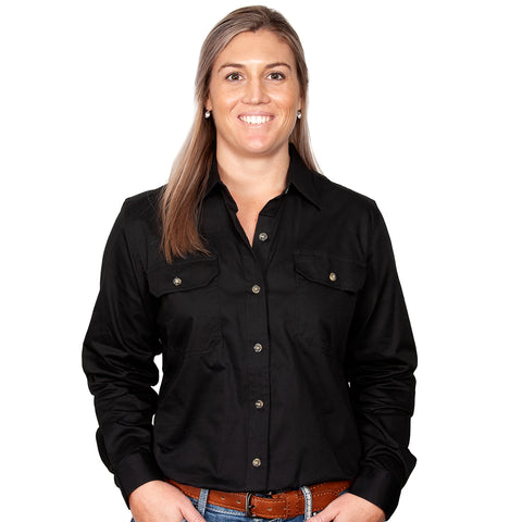 Just Country Workshirt Women's Brooke Black front